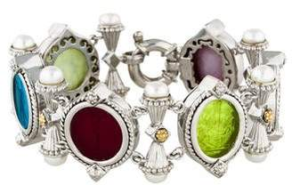 Tagliamonte Pearl-Accented Venetian Cameo Link Bracelet