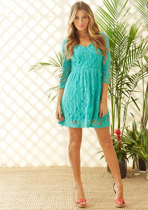 Shania Pinky Lace Dress