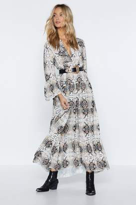 Nasty Gal In a Certain Snake of Mind Maxi Dress