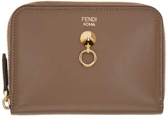 Fendi Brown By The Way Zip Around Wallet