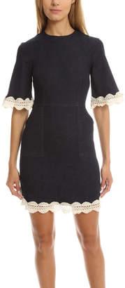 Nicholas n Denim Trim Mini Dress