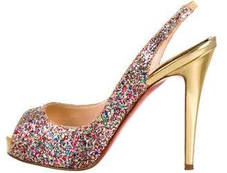 Christian Louboutin No Prive Slingback Pumps