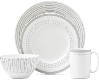 Kate Spade Charlotte Street East Grey Collection 4-Piece Place Setting