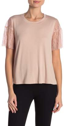 Hazel Blouse With Lace Short Sleeves