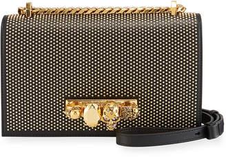 Alexander McQueen Jeweled Studded Satchel Bag