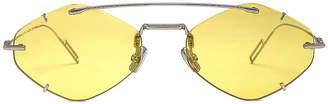 Christian Dior Inclusion Sunglasses in Palladium & Gold   FWRD