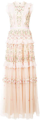 Needle & Thread floral tulle tiered dress