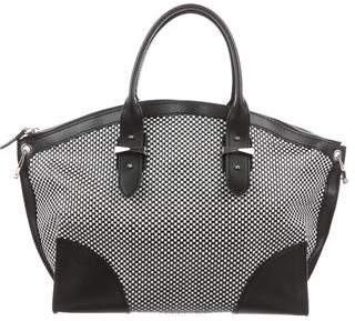 Alexander McQueen Woven Leather Legend Bag