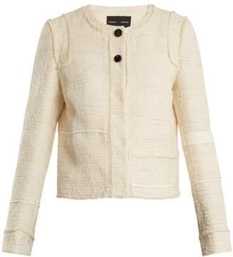 Proenza Schouler Piped-edge cotton-blend bouclé tweed jacket