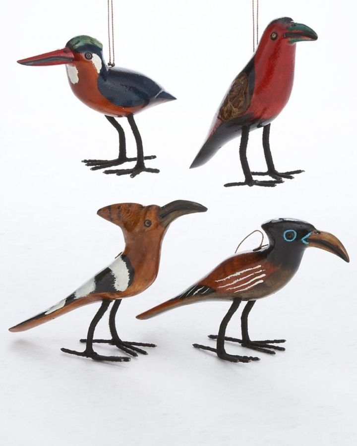 CLOSEOUT! Fair Winds Trading African Bird Christmas Ornaments