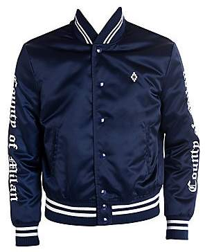 Marcelo Burlon County of Milan Men's Toronto Blue Jays Satin Bomber Jacket