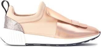 Sergio Rossi Metallic Running Sneakers