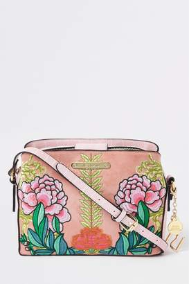 Next Womens River Island Embroidered Open Top Triple Compartment Bag