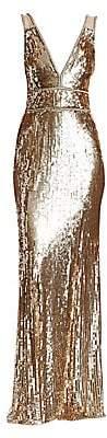 Jenny Packham Women's Embellished V-Neck Gown