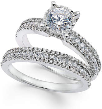 Trumiracle Pavé Bridal Set (1-1/2 ct. t.w.) in 14k White Gold