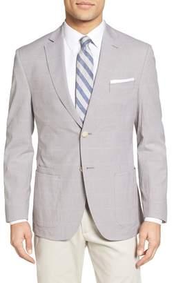 JKT NEW YORK Trim Fit Windowpane Stretch Cotton Sport Coat