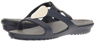 Crocs - Sanrah Embellished Sandal Women's Sandals $40 thestylecure.com