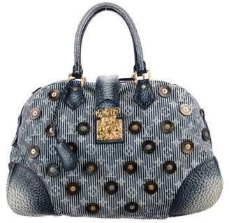 Louis Vuitton Denim Polka Dot Trunks Bag Bowly