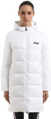 Zia Hooded Nylon Puffer Coat