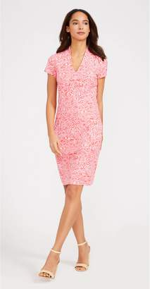 J.Mclaughlin Ivana Cap Sleeve Dress in Faiz Con