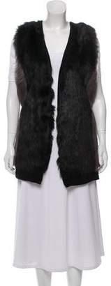 Theory Wool Faux-Fur Vest