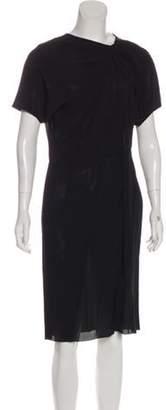 Marni Short Sleeve Midi Dress Black Short Sleeve Midi Dress