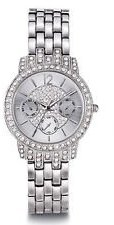 Avon Bling Pave Watch with Swarovski Crystals – Silvertone