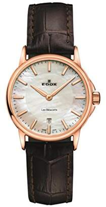 Edox Women's 57001 37R AIR Les Bemonts Analog Display Swiss Quartz Brown Watch