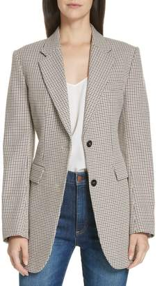 Theory Super Cinched Plaid Blazer