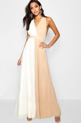 boohoo Boutique Contrast Collar Maxi Dress