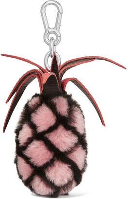 Autumn Cph - Stingray-trimmed Shearling Keychain - Pink