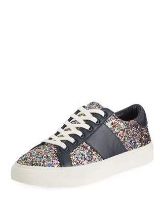 Tory Burch Carter Glitter Low-Top Lace-Up Sneakers