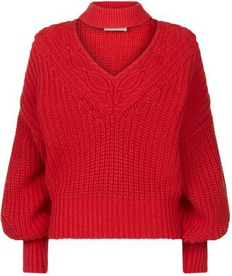 Self-Portrait Chunky V-Neck Sweater
