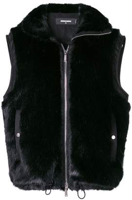 DSQUARED2 zipped fur vest