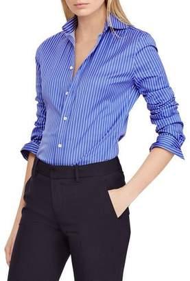 Ralph Lauren Striped Poplin Button-Front Shirt