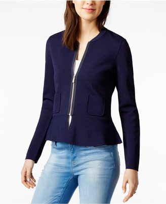 Tommy Hilfiger Peplum Sweater Jacket, Only at Macy's $129.50 thestylecure.com