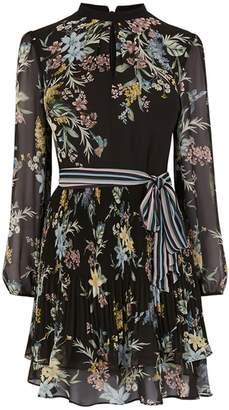Next Womens Oasis Black Winter Jasmine Pleated Skater Dress
