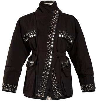 Isabel Marant Emmy Reversible Stud Embellished Jacket - Womens - Black