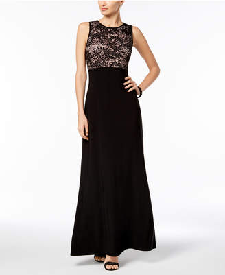 Night Way Nightway Open-Back Lace Gown