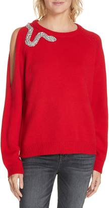 BA&SH Ossi Embellished Wool Sweater