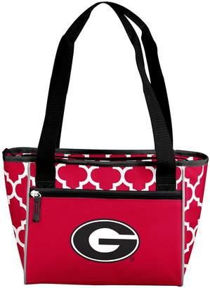 Logo Brand Georgia Bulldogs Quatrefoil 16-Can Cooler Tote