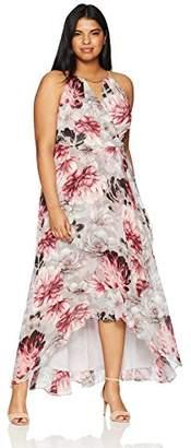 Sangria Women's Plus Size High-Low Maxi Dress