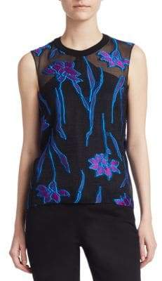Roland Mouret Thomas Sleeveless Embroidery Top
