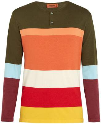 Missoni Henley colour-block long-sleeved T-shirt
