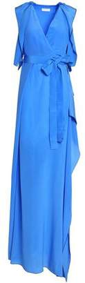 Vionnet Belted Draped Silk Crepe De Chine Gown