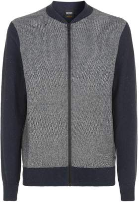 HUGO BOSS Knitted Zip Up Cardigan