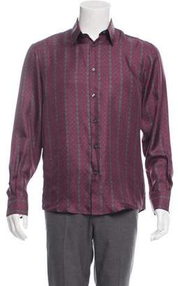 Versace Printed Silk Button-Up Shirt