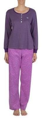 Claudel Two-Piece Embroidered Pyjama Set