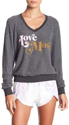 Wildfox Couture Love More Baggy Fleece Sweater