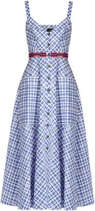 SALONI Fara sleeveless stretch-cotton gingham midi dress $572 thestylecure.com